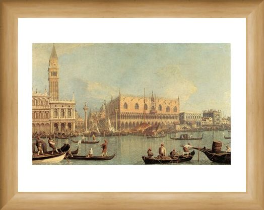 Framed Framed Veduta Del Palazzo Ducale - Canaletto