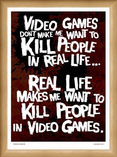 Framed Framed Kill People In Video Games - Get It Right