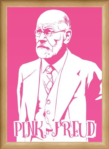 Framed Framed Pink Freud Mini Poster - Humour