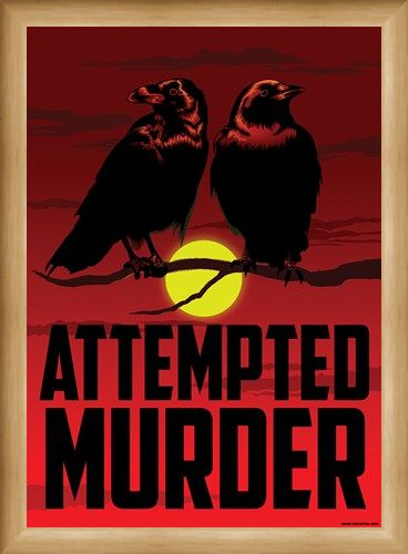 Framed Framed Attempted Murder Mini Poster - Crows
