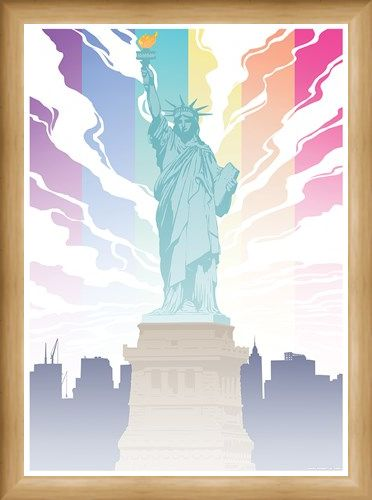 Framed Framed Lady Liberty - Pride