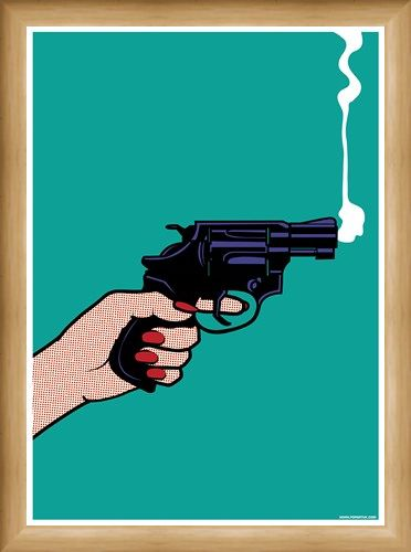 Framed Framed Smokin' Revolver - A Sideways Shot
