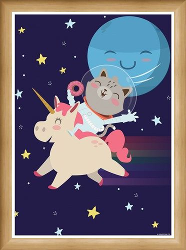 Framed Framed Get Ready To Rumble! - Unicorn Space Race