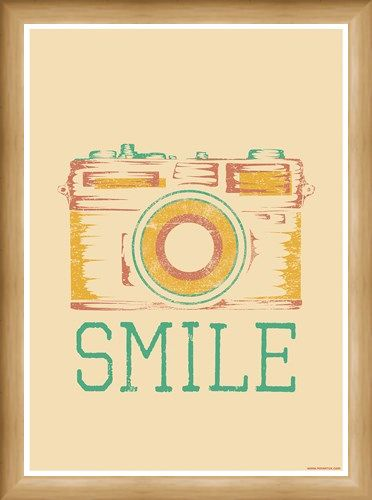 Framed Framed Smile - Retro Camera