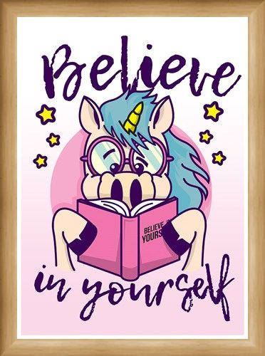 Framed Framed Believe In Yourself - Unicorn