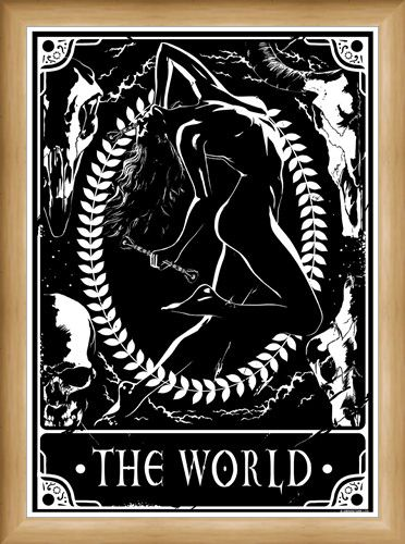 Framed Framed The World - Deadly Tarot