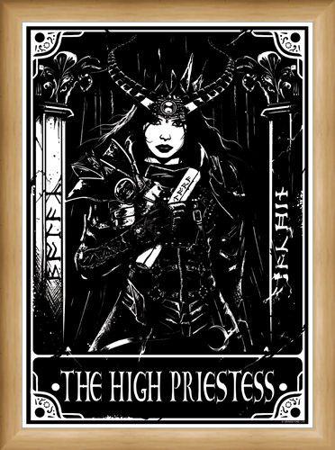 Framed Framed The High Priestess - Deadly Tarot
