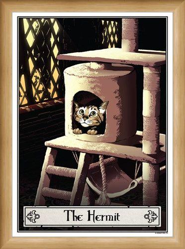 Framed Framed The Hermit - Deadly Tarot Felis