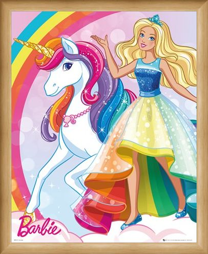 Framed Framed Unicorn - Barbie