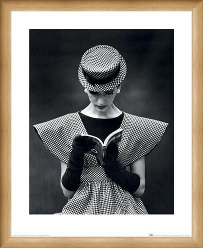 Framed Framed Wide Shoulder Fashion 1959 - Time Life