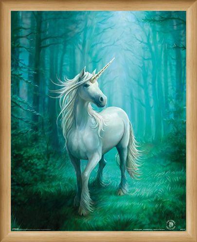 Framed Framed Forest Unicorn - Anne Stokes