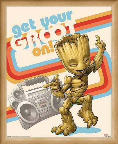 Framed Framed Get Your Groot On - Guardians of the Galaxy Vol. 2