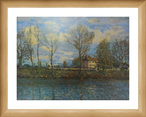Framed Framed Island of The Grande Jatte - Alfred Sisley