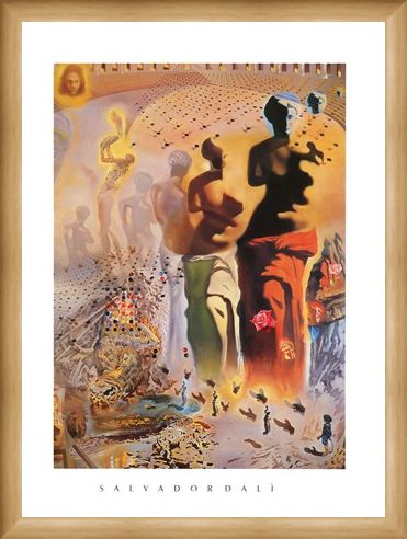 Framed Framed The Hallucinogenic Toreador - Salvador Dali