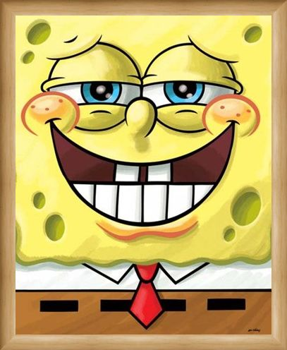 Framed Framed Cheeky Grin - Spongebob Squarepants