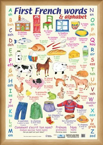 Framed Framed First French Words - Learn The Alphabet in French