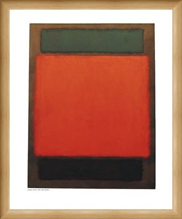 Framed Framed Orange and Brown - Mark Rothko