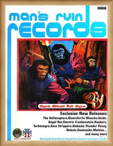 Framed Framed Ape Shall Kill Ape - Frank Kozik