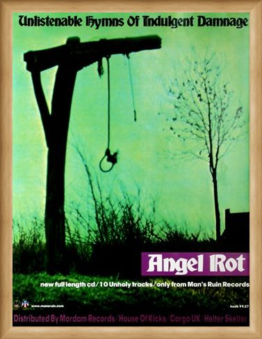 Framed Framed Unlistenable Hymns of Indulgent Damage - Angel Rot - Frank Kozik