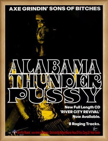 Framed Framed Alabama Thunderpussy - Frank Kozik