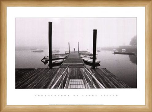 Framed Framed Misty Harbour - Larry Silver