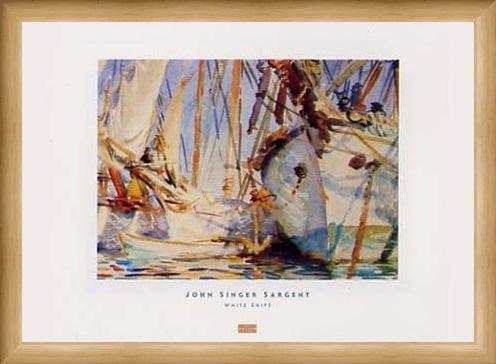Framed Framed White Ships - John Singer Sargent