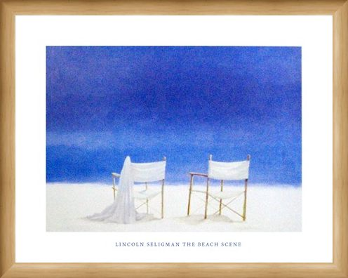 Framed Framed The Beach Scene - Lincoln Seligman