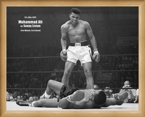 Framed Framed History in the Making - Muhammad Ali Vs Sonny Liston