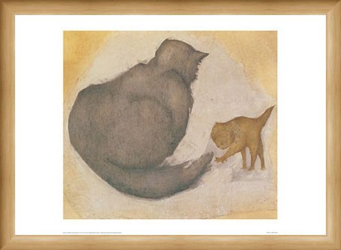Framed Framed A Cat and a Kitten - Sir Edward Burne-Jones