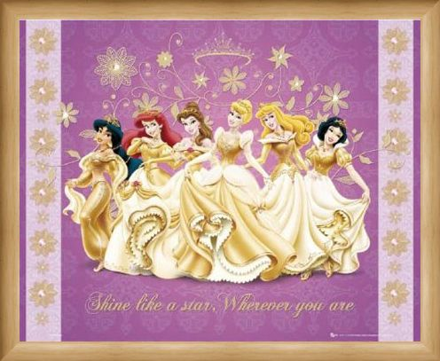 Framed Framed Shine Like a Star - Disney Princesses