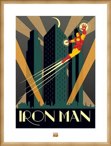 Framed Framed Iron Man - Marvel Deco