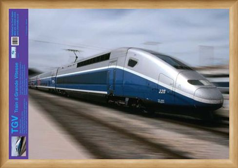 Framed Framed TGV High Speed Train - Trains