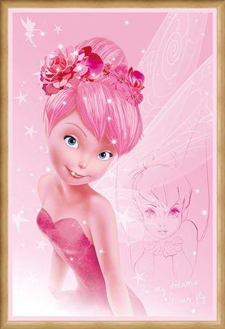 Framed Framed Tink In Pink - Disney's Tinkerbell