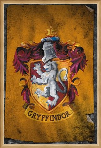 Framed Framed Gryffindor Flag - Harry Potter