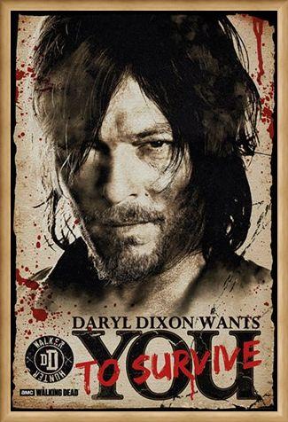 Framed Framed Daryl Needs You - The Walking Dead