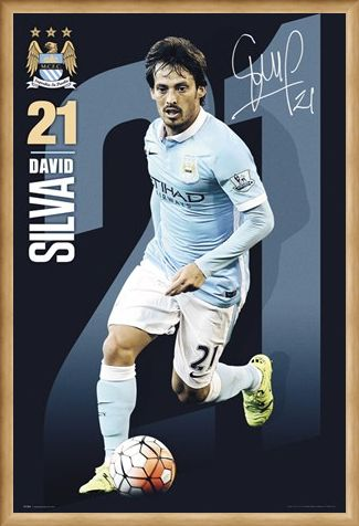 Framed Framed David Silva 2015/16 - Manchester City FC