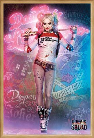 Framed Framed Harley Quinn In Neon - Suicide Squad