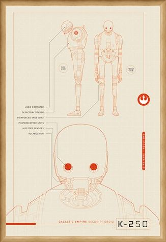 Framed Framed K-2S0 Plans - Star Wars Rogue One