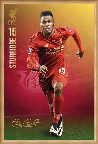 Framed Framed Sturridge 2016/17 - Liverpool FC