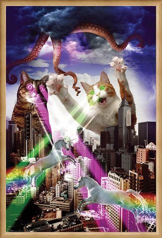Framed Framed Apocalypse Meow - Animal Invasion