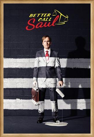 Framed Framed Painted Stripes - Better Call Saul