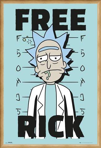 Framed Framed Free Rick - Rick and Morty