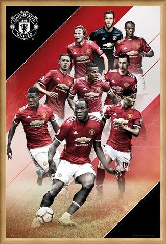 Framed Framed Players 17-18 - Manchester United
