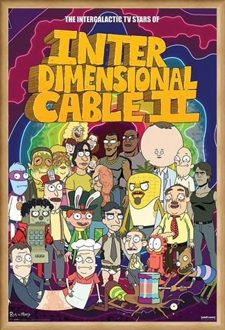 Framed Framed Stars of Interdimensional Cable - Rick and Morty