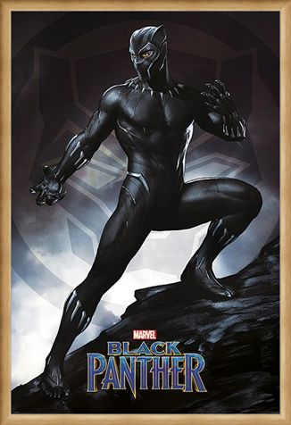 Framed Framed Black Panther Stance - Marvel