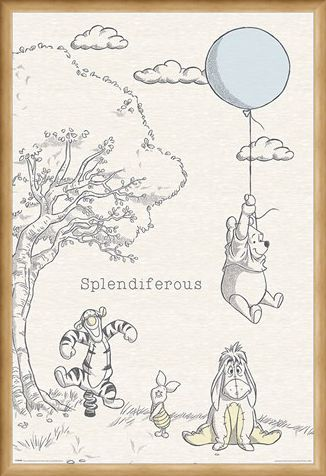Framed Framed Splendiferous - Winnie the Pooh