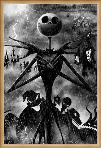 Framed Framed Stormy Night - Nightmare Before Christmas