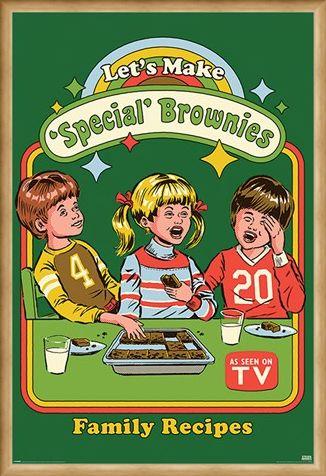 Framed Framed Let's Make Special Brownies - Steven Rhodes
