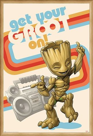 Framed Framed Get Your Groot On - Guardians Of The Galaxy