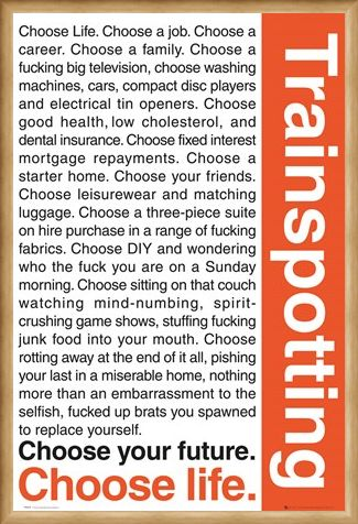 Framed Framed Trainspotting, Choose Life - Trainspotting